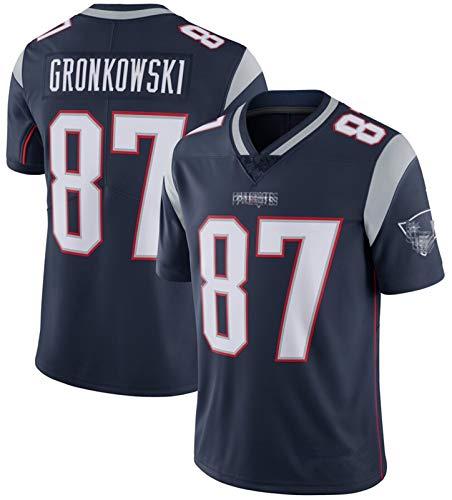FDRYA Pǎtriots Rugby Trikots Gronkowski # 87 Néw Englánd, Bestickte American Football Trikots Erwachsene Männer Kurzarm Outdoor Casual T-Shirts D-XL