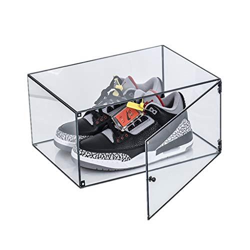 ZKLNO Acryl Transparente Aufbewahrungsschuh Box Sportschuhe Benutzerdefinierte Display Box Feuchtigkeitsbeständige Staubdichte Schuhe Verdickte Sammelbox Basketball Fußballschuh Vitrine,Clear