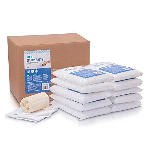 Reine Bittersalze | Magnesiumsulfat-Badesalz | 10-Kilo-Packung von The Intelligent Health | Ideal zur Linderung von Muskelkater | Reduziert Entzündungen