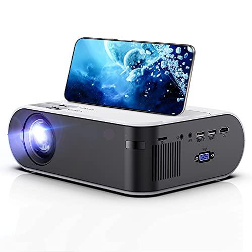 Proyector de Video HD, WiFi Android 6.0 PROYECTOR DE PELÍCULA del CEATRO Inicio, para EL PROYECTOR DE Video DE 1080P, 2800 LUMENS TELÉFONO Smart Smart 3D Beamer
