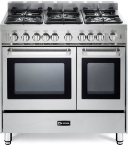 Verona VEFSGG365NDSS 36' Pro-Style Gas Range with 5 Sealed Burners 2...