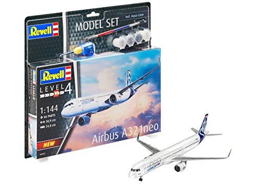 Revell 64952 Airbus A321 Neo - Maqueta de avión Airbus con Accesorios básicos (sin lacar)