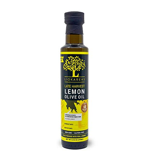 Lemon Oil - Greek Extra Virgin Olive Oil Pressed With Lemons - Organic - NonGMO - Paleo - Keto - Single Sourced - Cold Pressed - First Pressed - No Artificial Flavor - 2020 International Award Winner