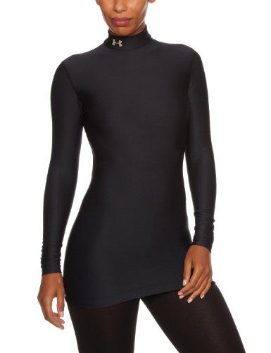 Under Armour CG Compression Mock Camicia da donna, donna, nero, XS