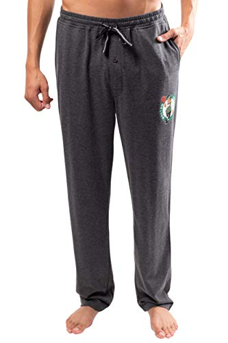 Ultra Game NBA Boston Celtics Mens Sleepwear Super Soft Pajama Loungewear Pants, Heather Gray, Small