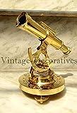 Royal Brass Alidade telescopio marino teodolite con bussola in ottone, decorazione nautica vintage