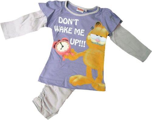 Garfield Schlafanzug - Don´T Wake ME UP!!! - Lila/Grau