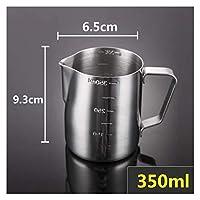 スケールのオフィスエスプレッソコーヒーカップラテミルク水差しのベーキングツールを持つ創造的な大容量のステンレス鋼測定カップ (色 : 350ml)