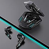 Auriculares Bluetooth in-ear con caja de carga, control táctil de color de luz...