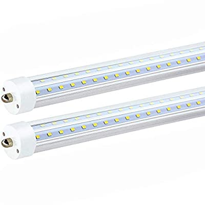 8ft Single pin V Shape led Tube 50w 5000k 6000lm Clear