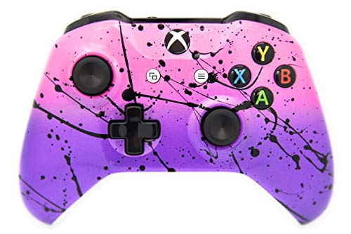 Hand Airbrushed Fade Xbox One Custom Controller Compatible with Xbox One (Pink & Purple)