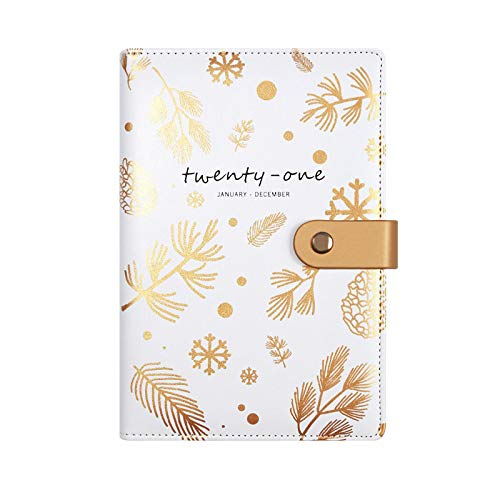 Agenda 2021 A5 Notebook and Journal Monthly Weekly Planner Schedule Organizer Diary Notepad 256 Pages Office Stationery A5 01