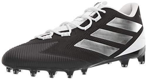 adidas Men's Freak Carbon Low Football Shoe, Black/Silver Metallic/Black, 10.5 M US
