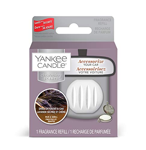 Yankee Candle Charming Scents Car Air Freshener Refill, Dried Lavender and Oak, Farmers' Market Collection