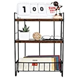 PAG 3-Tier Desktop Shelf Mail Organizer Wall Mounted Floating Shelves Accessories Display Rack for Home Office