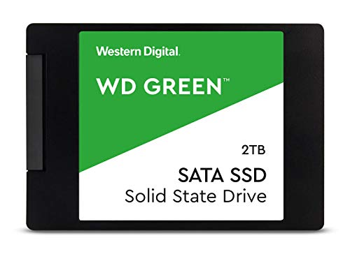 Western Digital Green 2TB Internal PC SSD – SATA III 6 Gb/s, 2.5 Inch /7mm – S200T2G0A