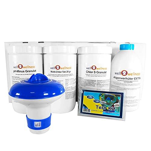 well2wellness® Pool Wasserpflege Set CLEWA Premium 6in1 - Komplettset für Schwimmbäder