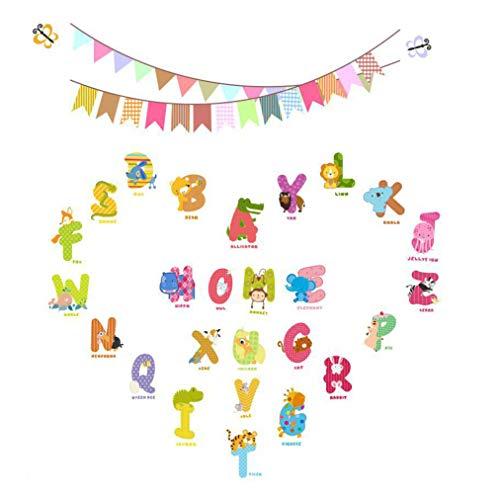 Nortongrace Nützliche Tiere Mural Wall Sticks Alphabet Letters for Kids Rooms Removal Nursery(None 30 * 60cm)