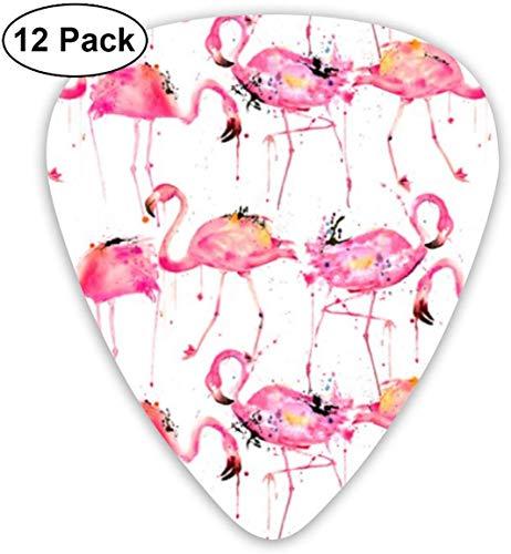 Flamingos, die ein Spritzen bilden 12 Satz-Gitarren-Auswahl, einzigartiges Gitarren-Geschenk für Baß