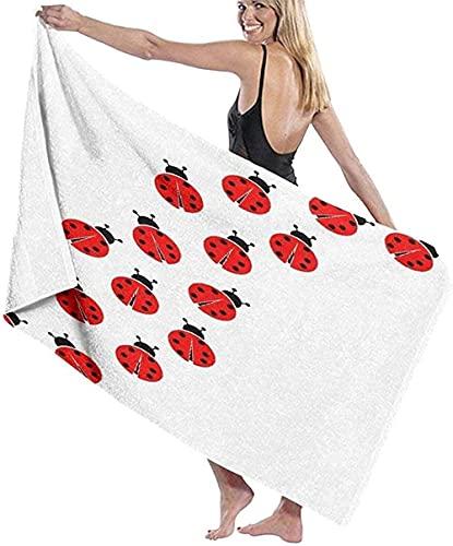 Toalla De Playa,Fibra Extrafina,Absorbente,Seven Ladybugs Toalla De Baño Toalla De Playa Ligera Viajes Familiares En Hoteles Natación Fitness 80 * 130 Cm