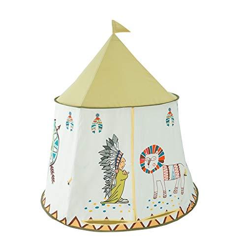 C-J-Xin Kinderen Game World, Indische stijl Tent Witte Kasteel van het sprookje slaapkamer decoratie Castle. Kids Toy Tent (Color : A)