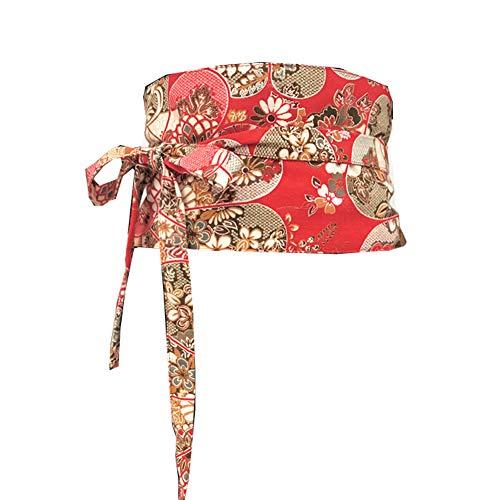 Fancy Pumpkin Vintage Yukata japonés Kimono túnica Cinturón de Obi Cintura Harajuku-D14