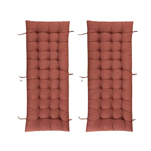 Yzzlh Two Sets Lounge Chair Cushions, Portable Recliner Patio Garden Furniture Replacement Cushion Thick Padded Bed Recliner Relaxer Chair Seat Cover (I,53x170cm)