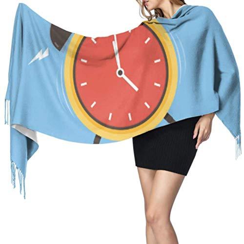 Jingliwang Bufandas Abrigo Chal Alarm Clock Wake-up Time Woman Shawl Wrap Shawl And Wraps For Women Shawl Wraps For Women 77x27inch/196x68cm Large Soft Pashmina Extra Warm
