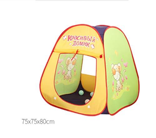 LZNK Tienda de campaña para niños para Interior y Exterior, Tienda de campaña de caricaturas animadas, Tienda de campaña Plegable de Tul, para Piscina