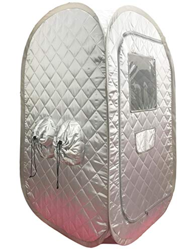 ZONEMEL Portable Steam Sauna, Lightweight Folding Tent, Personal Steam Sauna SPA for Weight Loss Detox Therapy, Steamer NOT Included (Silver)