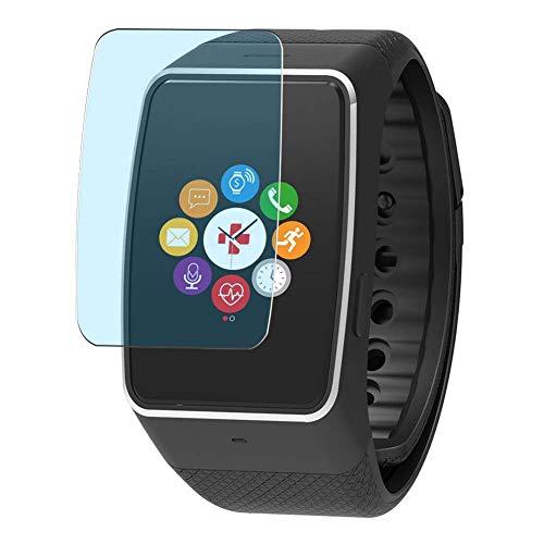 Vaxson 3 Stück Anti Blaulicht Schutzfolie, kompatibel mit MyKronoz ZeWatch 4HR 4 HR Smartwatch Hybrid Watch, Bildschirmschutzfolie TPU Folie Displayschutz [nicht Panzerglas Hülle Hülle ]