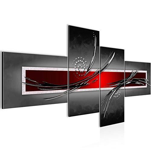 Bild XXL Abstrakt 200 x 100 cm Kunstdruck Vlies Leinwandbild Wanddekoration Wohnzimmer Schlafzimmer 102541a