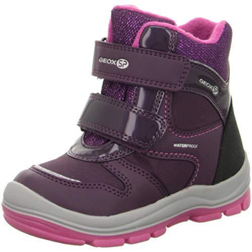 Geox Baby Mädchen Snowboots TRIVOR Girl WPF, Kleinkinder Winterstiefel,Thermostiefel,Moon Boots,Canadians,Purple/Fuchsia,24 EU / 7 UK Child