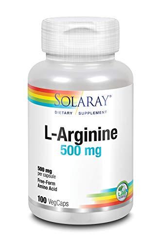 Solaray Free-Form L-Arginine, 500 mg, 100 Count