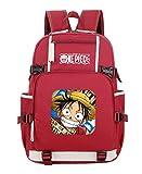 WANHONGYUE One Piece Monkey D Luffy Anime Bolsa para la Escuela Estudiante Backpack Escolar Mochila ...