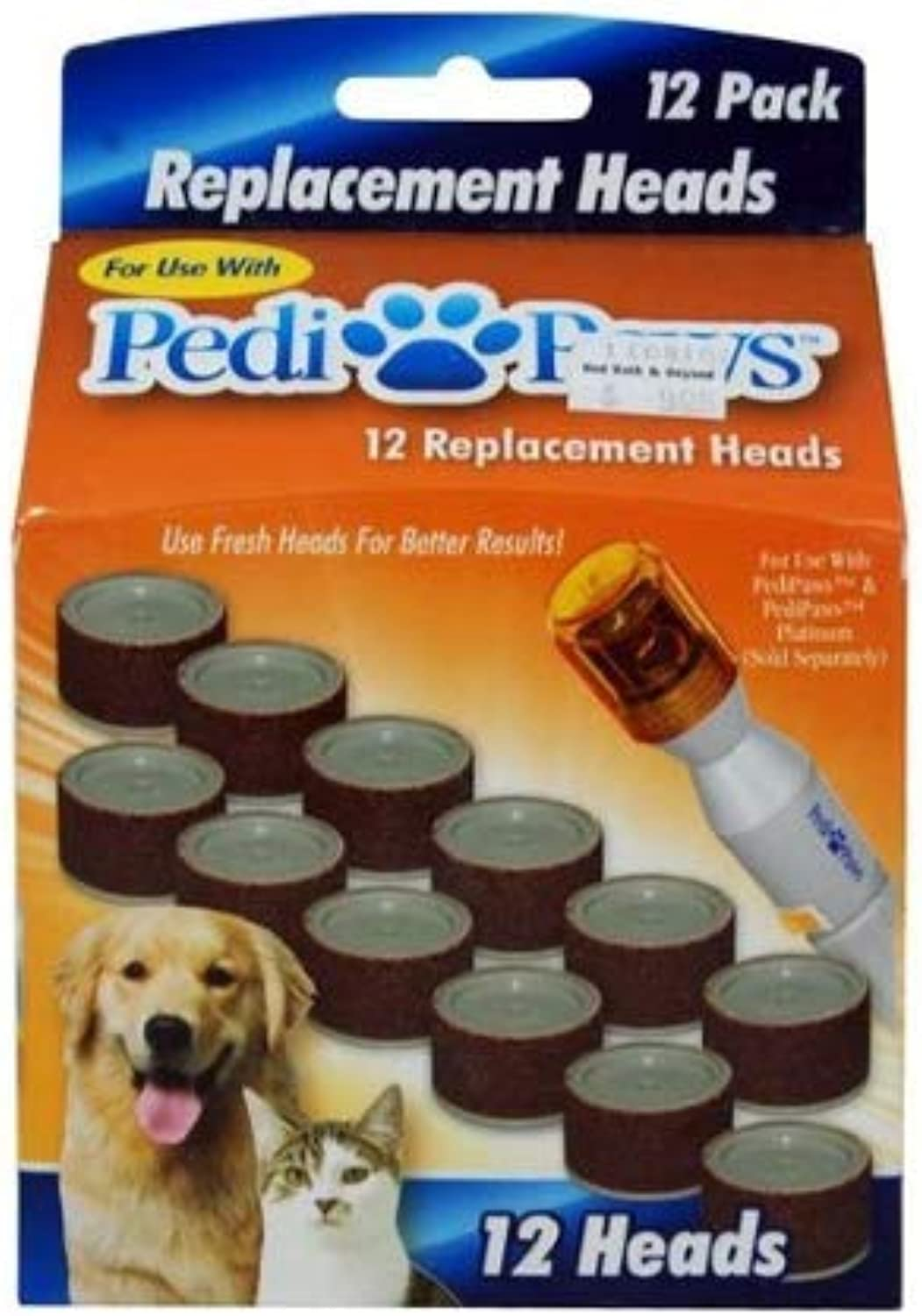 PediPaws Replacement Filing Heads 12 Replacement Heads As Seen on TV.