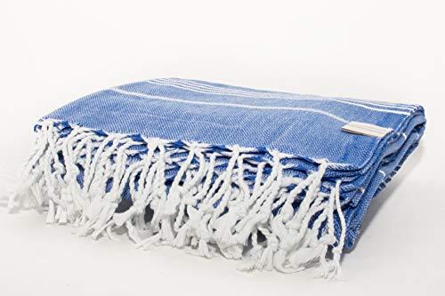 Vie Healing Handgefertigtes türkisches Handtuch Havlu Indigo 100prozent Baumwolle