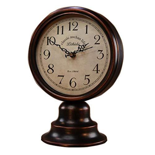 O&YQ Reloj de Sobremesa de Mesa Estilo Europeo Bronce Antiguo Reloj de Cuarzo de la Sala Y Reloj de Repisa. Reloj de Decoración. Se Aplica a Las Familias Oficinas Etc.