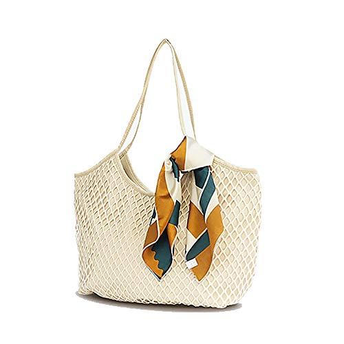 Bolsos de lona de las mujeres Bolso de hombro Bolso de mano Casual Beach Bolsas de compras