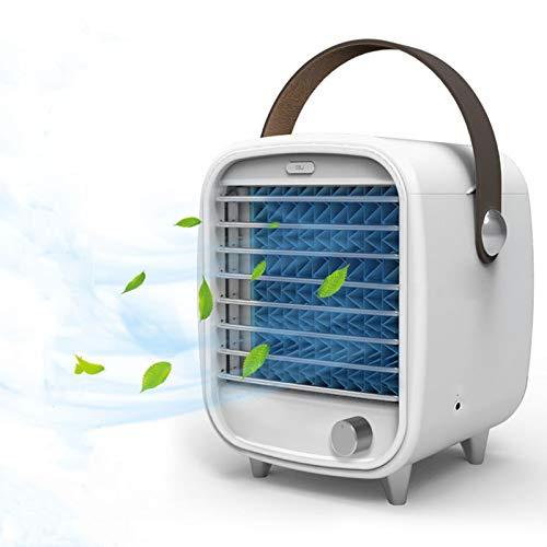 mixigoo Mini Luftkühler, 4 In 1 Tragber Mobile Klimageräte | Luftreiniger | USB Ventilator mit LED Nachtlicht 3 Kühlstufen Klimaanlage Air Cooler für Schlafzimmer Wohnzimmer Büro Reise