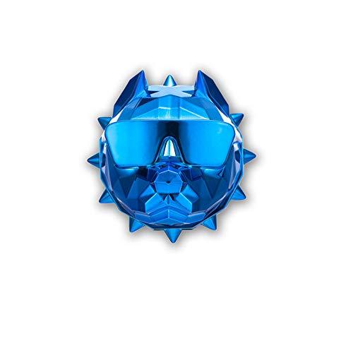 HXPH Bully Bulldog Cabeza de Perro Coche Perfume Salida de Aire del Coche Bálsamo Interior del Coche Aromaterapia Luz Duradera (Azul)