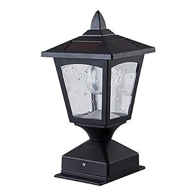 Solar Post Lights Outdoor,Pillar Lamp,Retro Lamps,Solar Lamp Post Cap Lights Waterproof 4x4 Wood Fence Posts Pathway,Patio, Deck,Garden,(Pack 1)