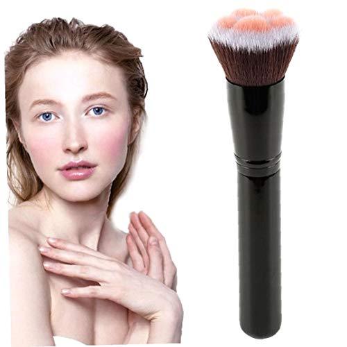 1pc patte de chat Fondation pinceau de maquillage professionnel brosse cosmétiques Fondation Brosses Pinceau Poudre Pinceau à blush multifonctions outil cosmétique (noir) Karité