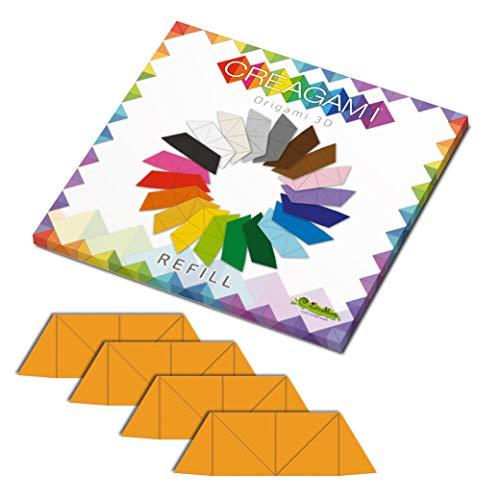 CreativaMente - Tarjetas precortadas y con guías de Plegado para Hacer Origami 3D, Color Amarillo Dorado, 867