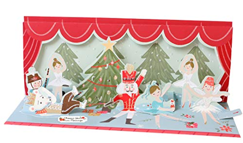 Pop Up 3D SOUND Weihnachten Panorama Karte PopShot Nußknacker Ballet 23x10 cm