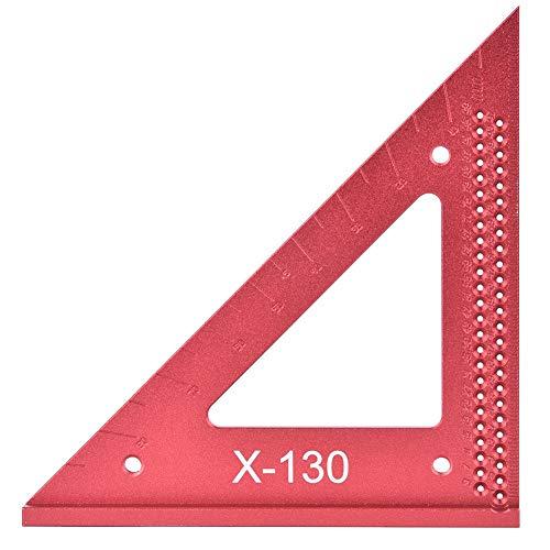 木工用 三角定規、90°/45°木工定規三角定規穴定規木工穴スクライビングゲージアルミニウム三角定規大工マーキングツール