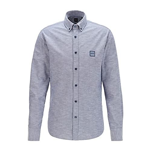 BOSS Mabsoot_1 10195830 01 Camisa, Dark Blue404, S para Hombre