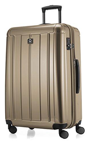 Hoofdstokkoffer - Kotti - trolley handbagage XL koffer 2-delige kofferset rolkoffer reiskoffer, 4 dubbele wielen, TSA, (S & L), hoogglans