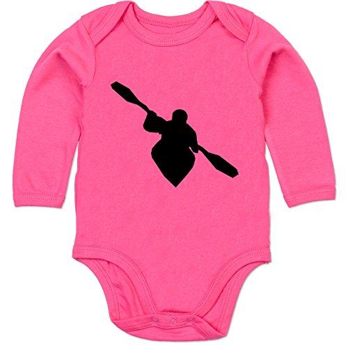 Sport Baby - Kajak - 6/12 Monate - Fuchsia - Kajak - BZ30 - Baby Body Langarm
