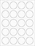 TYH Supplies Round Printer Labels 1.5 Inch Diameter, White Matte, 4000 Labels, Laser & Inkjet, Strong Adhesive, Compatible with Avery 8293 Template
